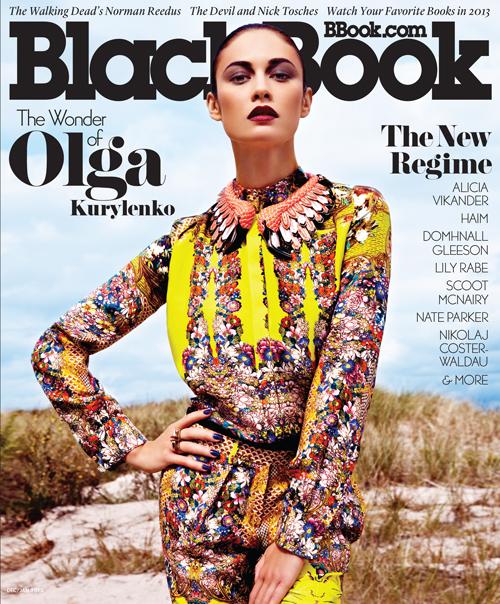 Olga Kurylenko na okładce magazynu BlackBook