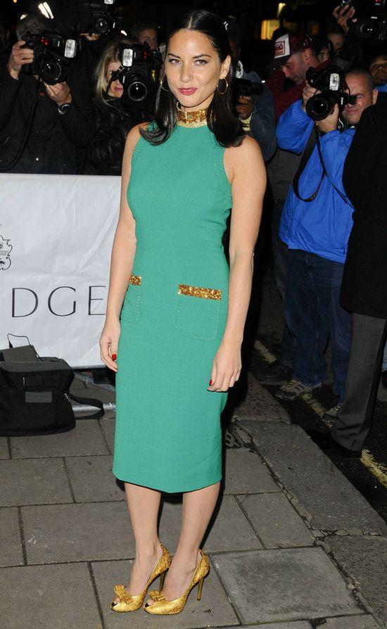 Olivia Munn w zielonej sukience L'Wren Scott