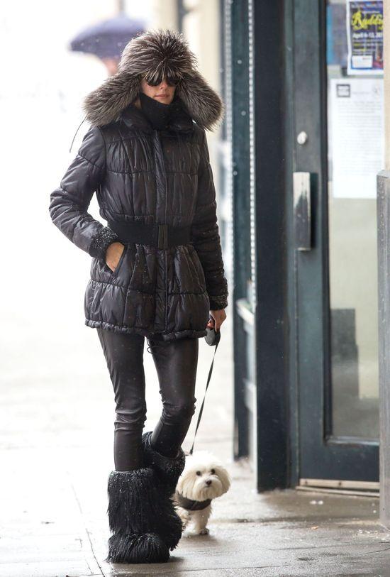 Zimowy look znanej fashionistki - zgadniecie, kto to taki?