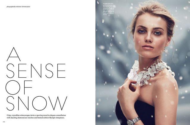 Ania Jagodzińska reklamuje zegarki Omega