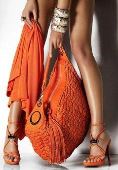 A może pomarańczową torebkę?