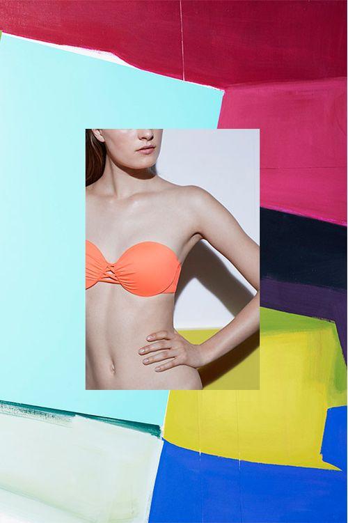 Oysho x Miren Doiz - Kolorowy lookbook strojów kąpielowych na lato 2016
