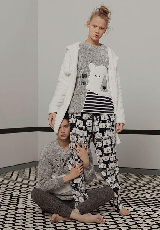 Oysho Dream It - Przeuroczy katalog z ciepłymi piżamami na jesień 2016