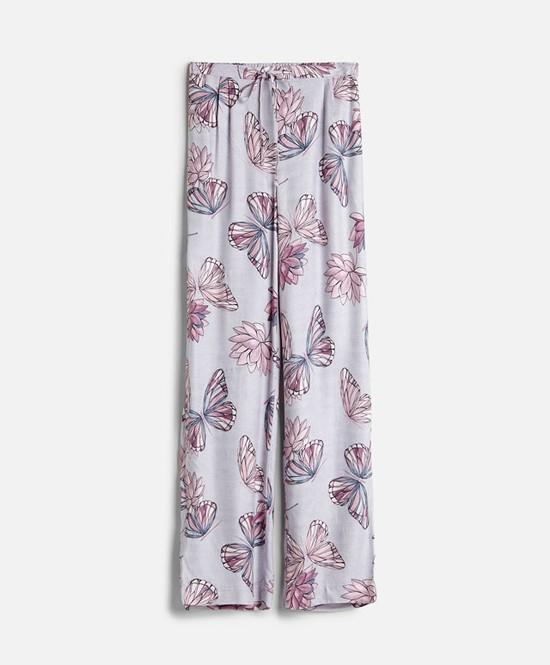 Oysho - spodnie do spania w kwiaty