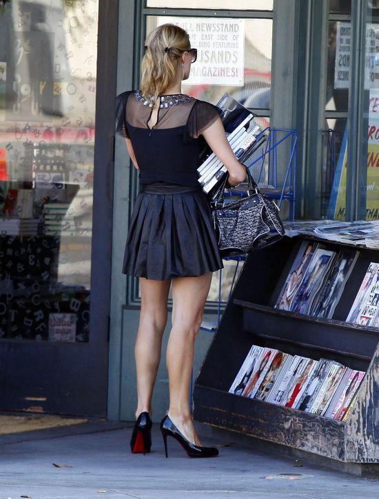 Paris Hilton w skórzanej spódnicy (FOTO)
