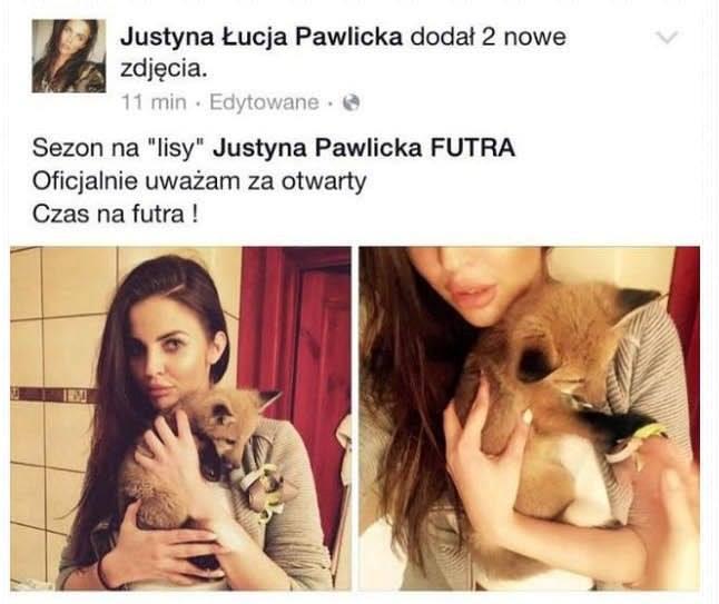Tego postu Internauci nie wybaczą Justynie Pawlickiej