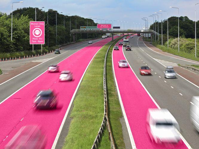 różowe drogi