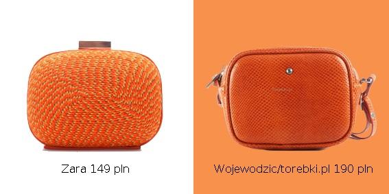 Przegląd pomarańczowych torebek