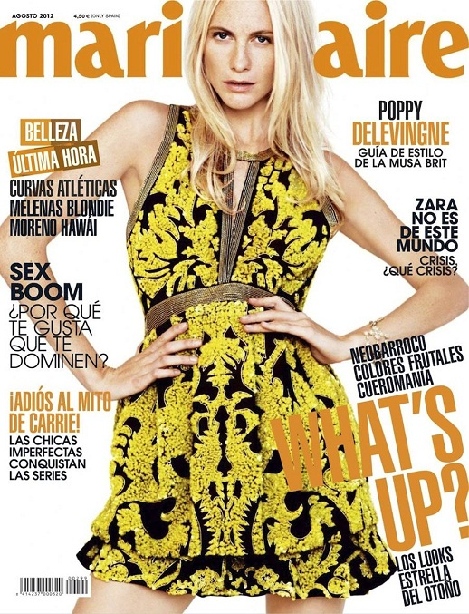 Poppy Delevingne na okładce styczniowego  Vogue Turkey