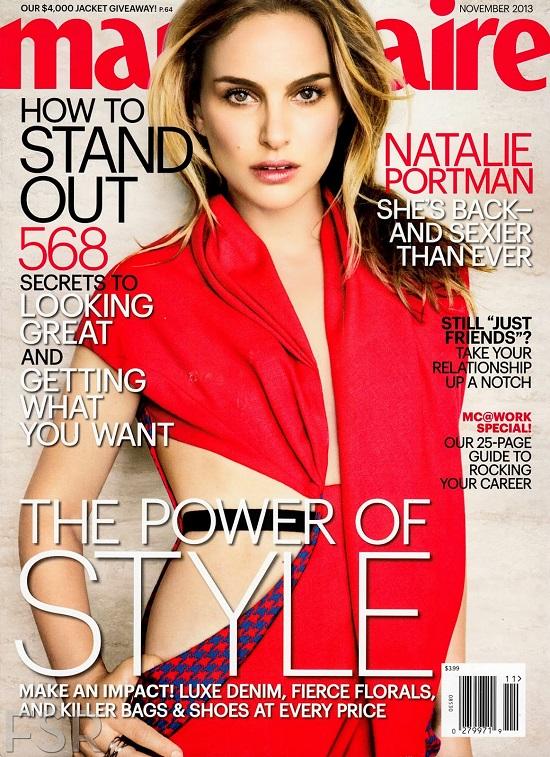 Natalie Portman trudna do poznania na okładce Marie Clarie