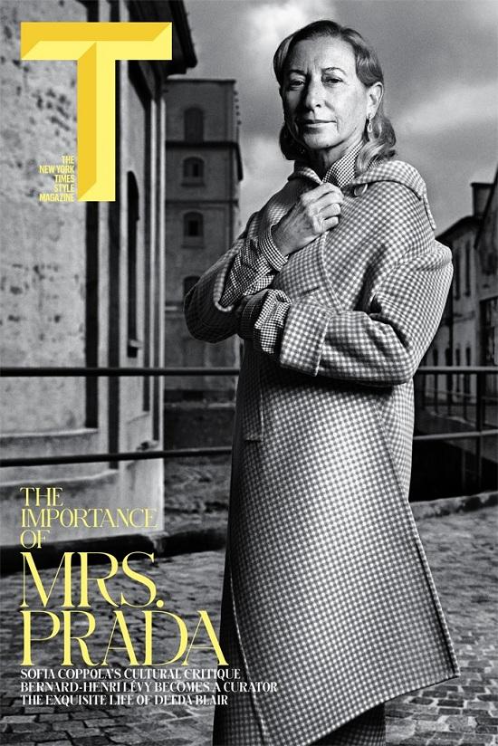 Miuccia Prada na okładce T magazine