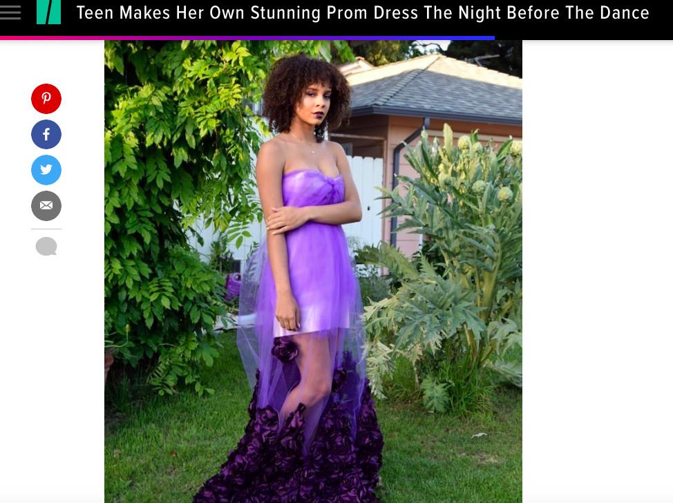 Ta nastolatka sama uszyła sobie sukienkę na prom dzień przed balem! (FOTO)