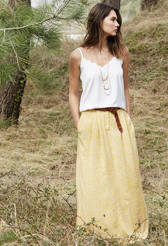Promod Look na Wiosnę - Modna stylizacja ze spódnicą i...
