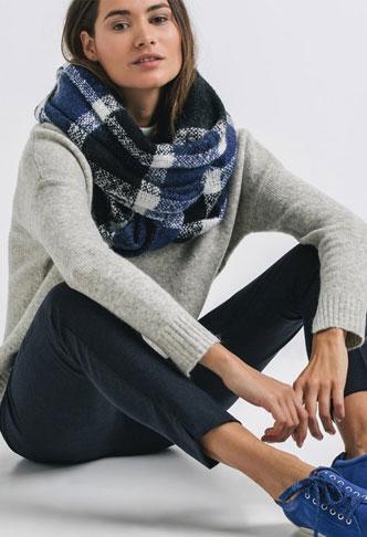 Promod Niebiesko&Szary look - Moda w zimowym wydaniu