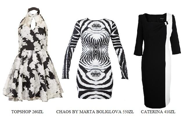 Przegląd czarno-białych sukienek