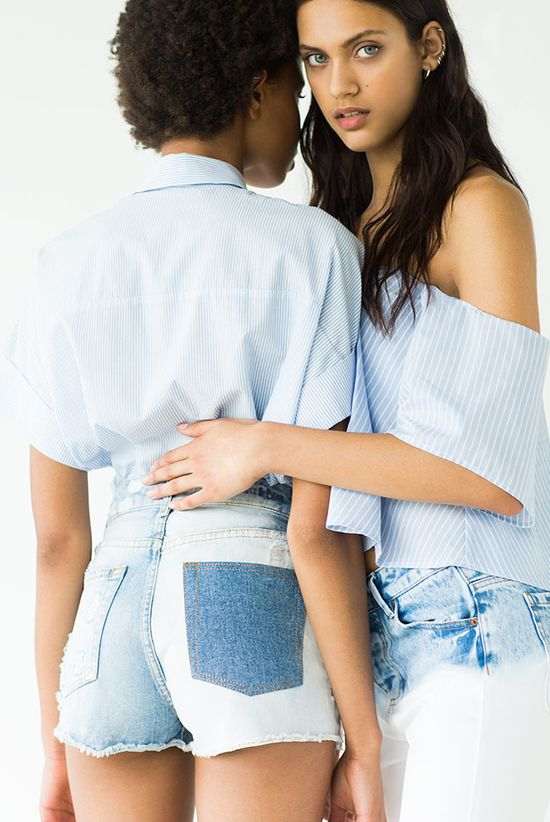 Pull&Bear Popeline - Moda na lato 2016 w dziewczęcym stylu