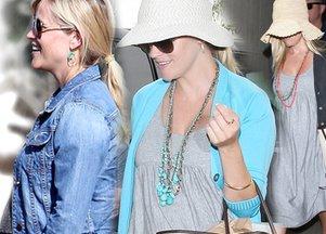 Ciążowe stylizacje Reese Witherspoon