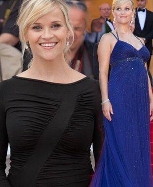 Reese Witherspoon w Cannes pokazuje brzuszek