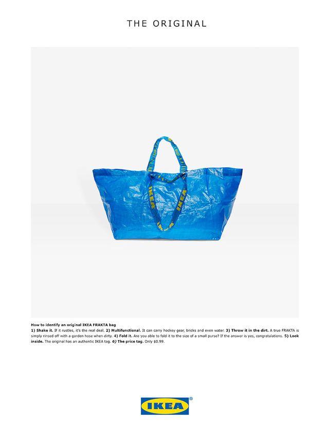 Ikea w mistrzowski sposób odpowiada na torbę projektu Balenciagi!
