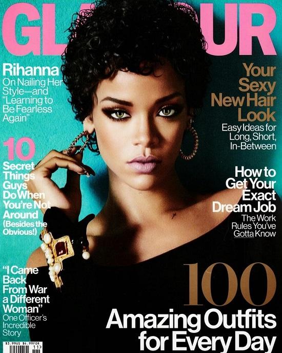 Rockowa Rihanna na listopadowej okładce Glamour
