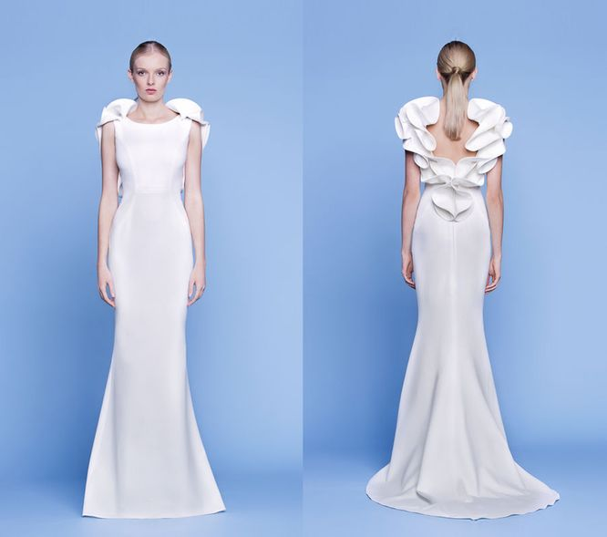 Rina Cossack - Piękne suknie ślubne pełne kontrastów (FOTO)