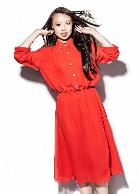 Eva Mendes w sukience Eva Mendes dla New York & Company