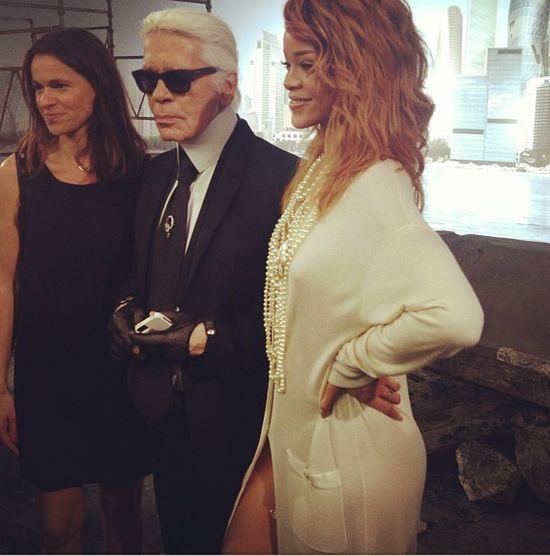 Rihanna na pokazie Chanel podczas Paryskiego Tygodnia Mody