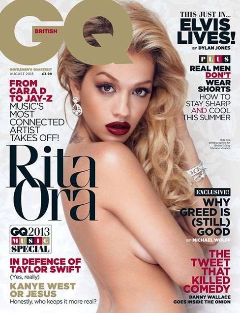Naga Rita Ora na okładce magazynu GQ