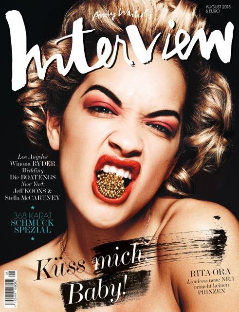 Rita Ora na okładce Interview Germany