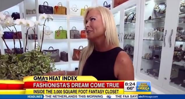 Kobieta z największą garderobą w Stanach ma katalog ubrań