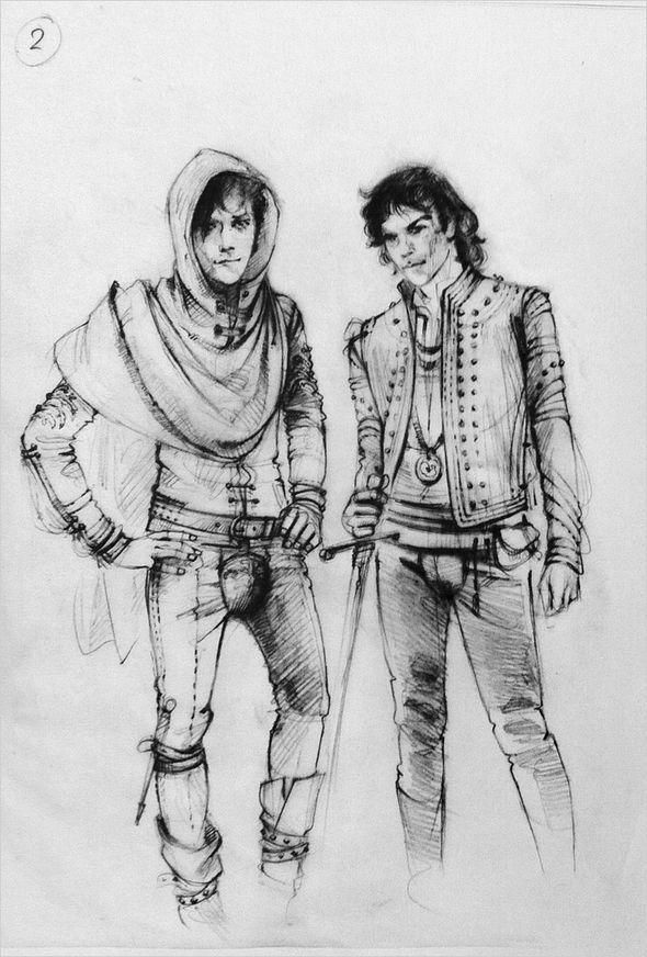 Szkice kostiumów do Romea&Julii autorstwa Carlo Piggioli