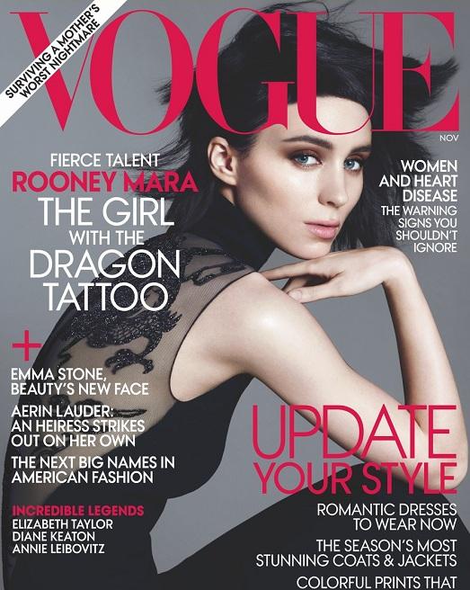 Rooney Mara na okładce lutowego Vogue US