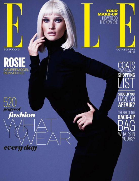 Rosie Huntington-Whiteley w platynowym bobie