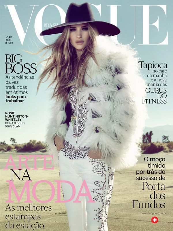 Rosie Huntington-Whiteley Vogue Brasil