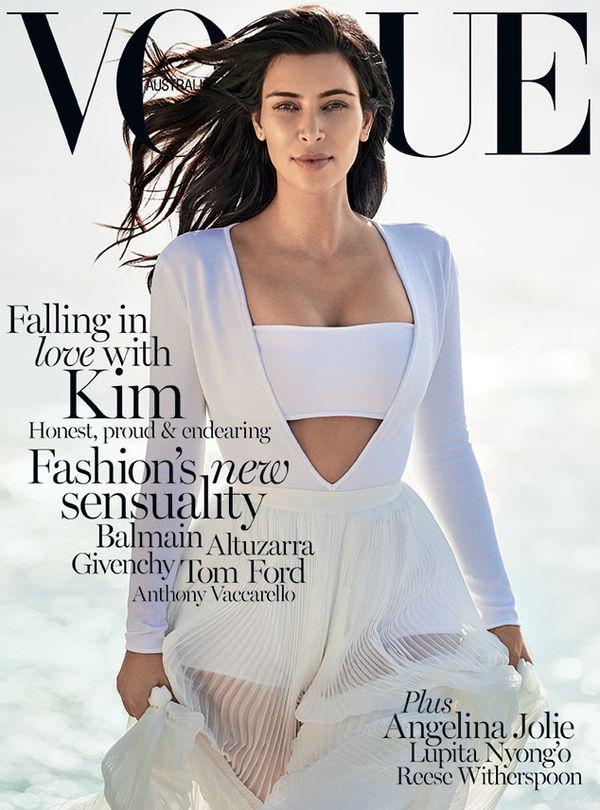 Kim Kardashian bardzo gwiazdorzyła na sesji dla Vogue?