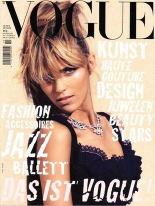 Anja Rubik w niemieckim Vogue