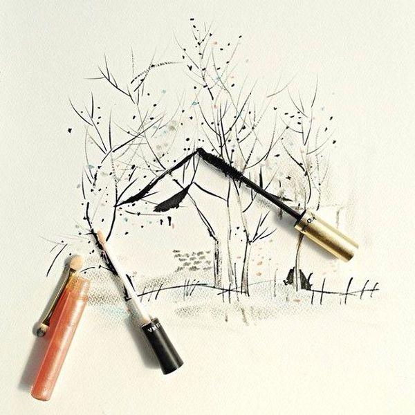 Hong Yi i jej rysunki kosmetykami (FOTO)