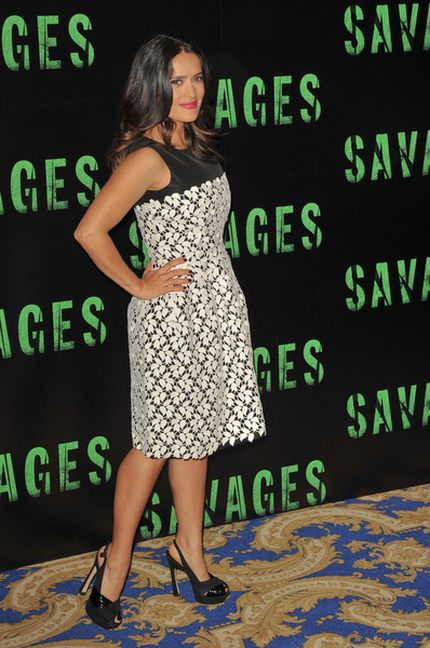 Salma Hayek w sukni Oscara de la Renty (FOTO)