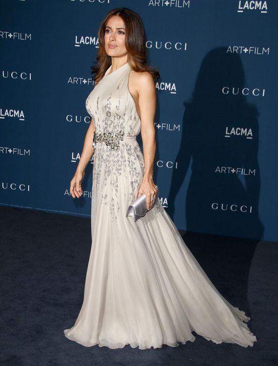 Salma Hayek w sukience Gucci