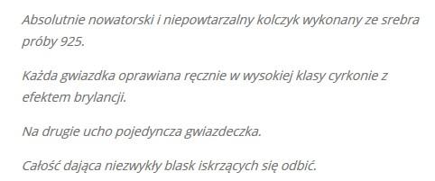 Sara Boruc przesadziła z opisem nowych kolczyków...