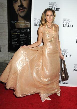 Sarah Jessica Parker skapana w złocie