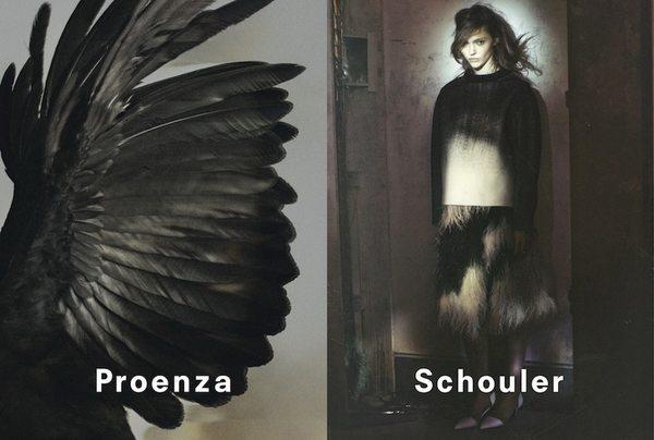 Sasha Pivovarova w kampanii Proenza Schouler