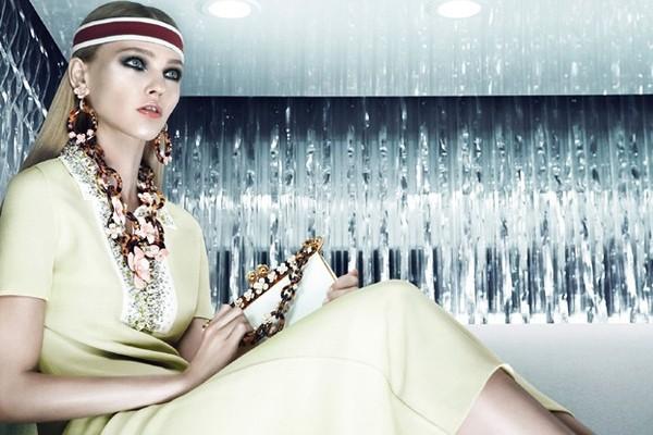 Sasha Pivovarova w kampanii Prady