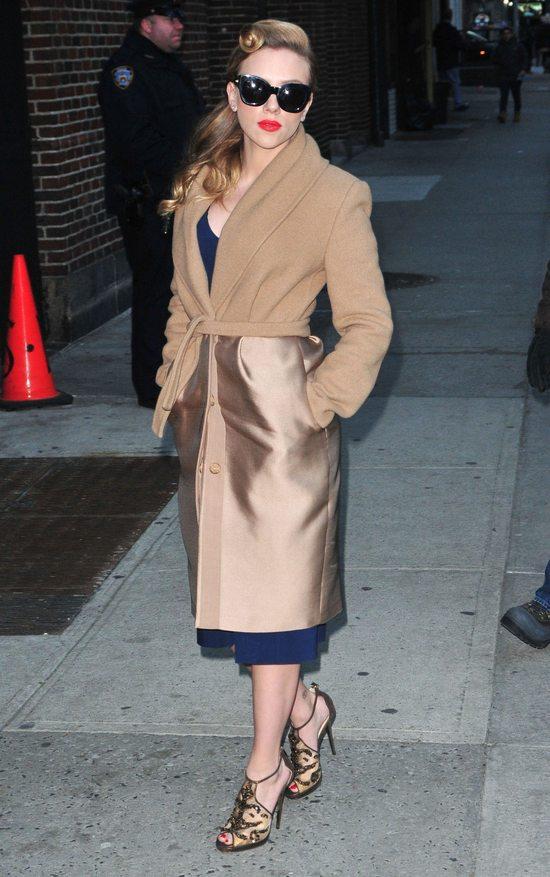 Scarlett Johansson w płaszczu Max Mara