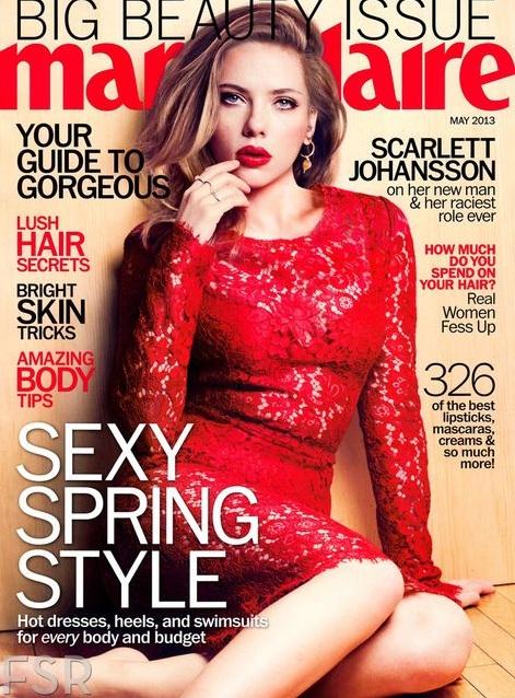 Scarlett Johansson na dwóch okładkach Marie Clarie US