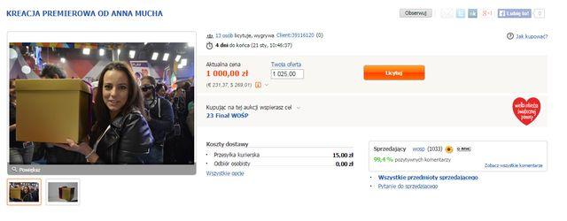 Podoba Ci się kreacja Anny Muchy? Szukaj jej na aukcji WOŚP!