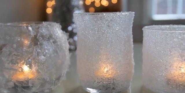 Dekoracje DIY: zimowo-świąteczne świeczniki [VIDEO]