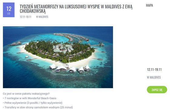 Marzy Ci się metamorfoza na Malediwach z Chodakowską? Cena może zwalić z nóg...
