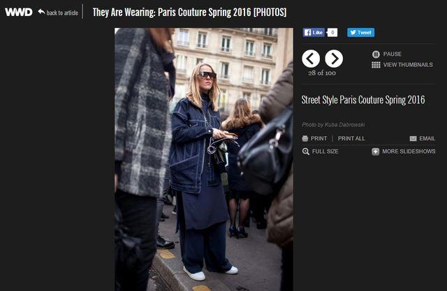 Strój Jessiki Mercedes z PFW wyróżniony przez modowe portale
