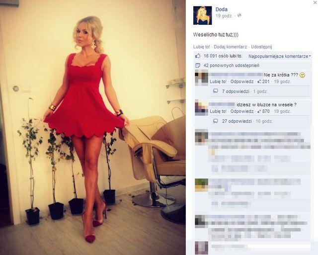 Jak Doda ubrała się na wesele? (FOTO)